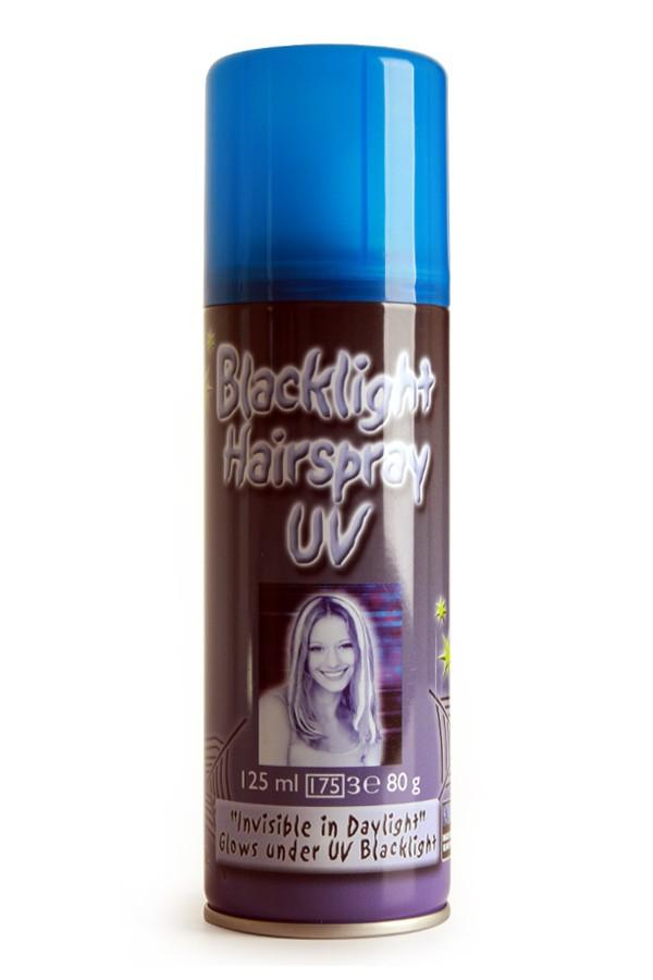 UV Haarspray 125 ml wit/blauw effect