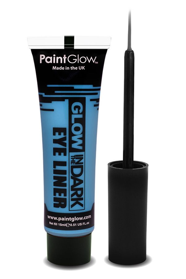 Glow in the dark eyeliner UV neon blauw