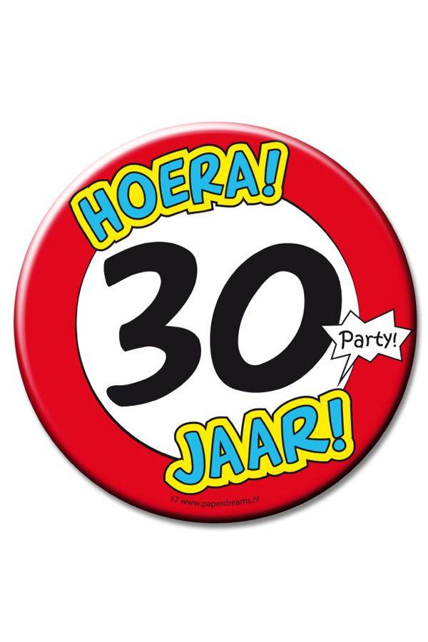 XL Button 30 jaarØ 10cm