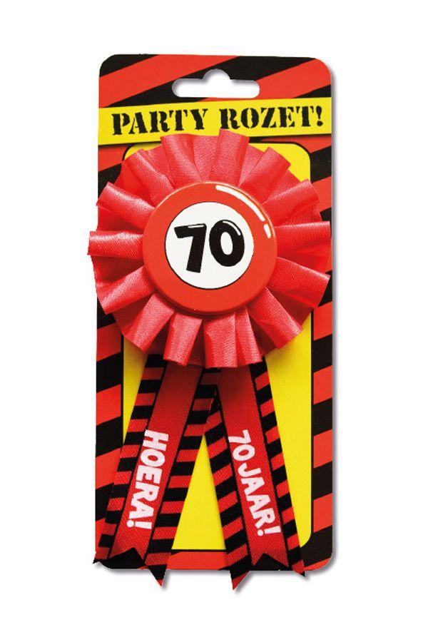 Party rozet hoera 70 jaar