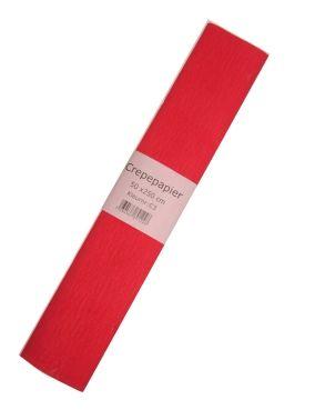 Crepe papier rood 250 x 50cm