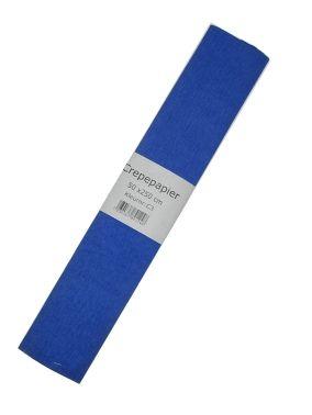 Crepe papier blauw 250 x 50cm