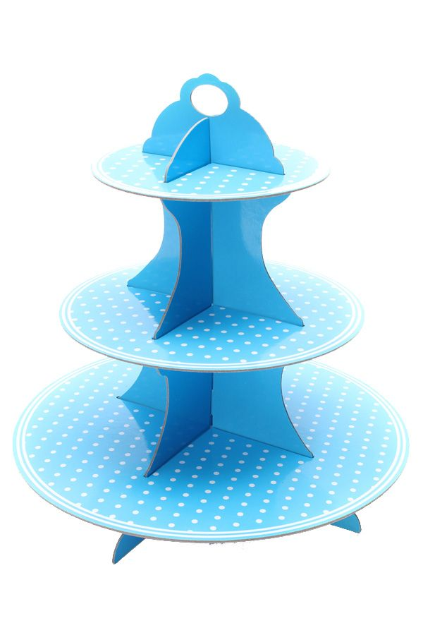 Etagere Cupcake blauw karton