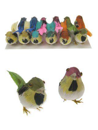 Decoratie vogel 6cm per stuk