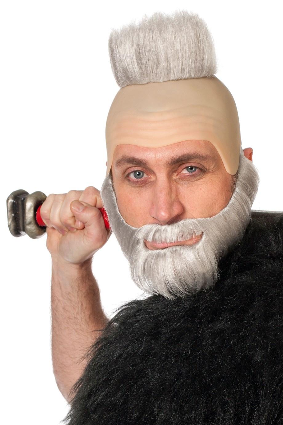 Glatze en baard grijs