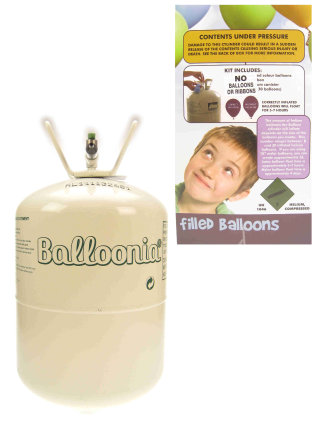 Heliumfles voor 30 ballonnen.