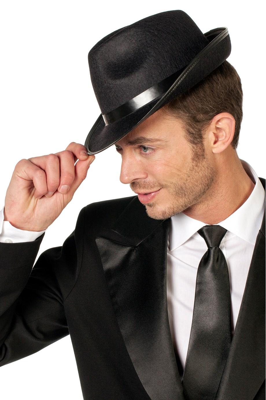 Kojak hoed zwart vilt