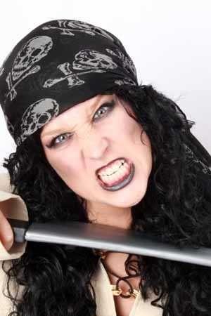 Piraten hoofddoek groot zwart