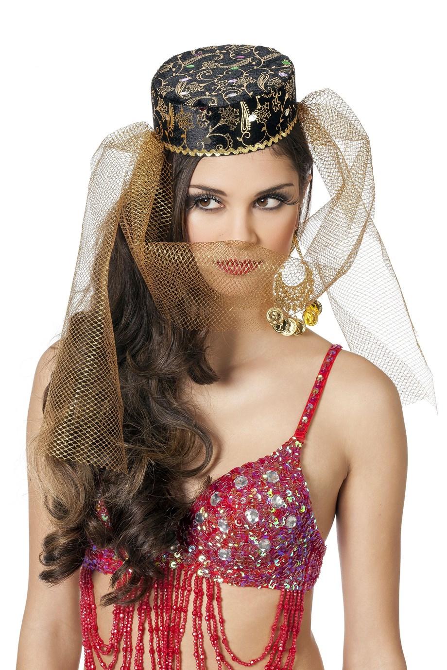 Harem hoed pansamt met goud
