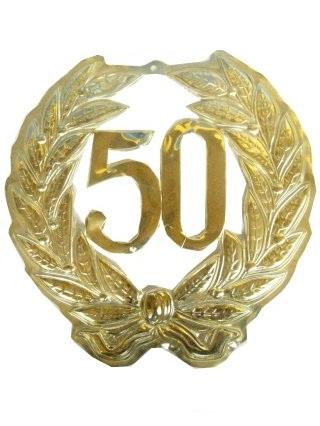 Jubileumkrans 50 jaar plastic 40cm