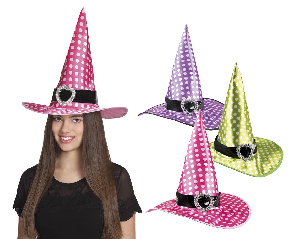 Heksenhoed witch Speckles voor kind per stuk diverse kleuren