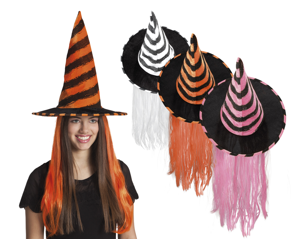 Heksenhoed witch Rhona kids div kleuren