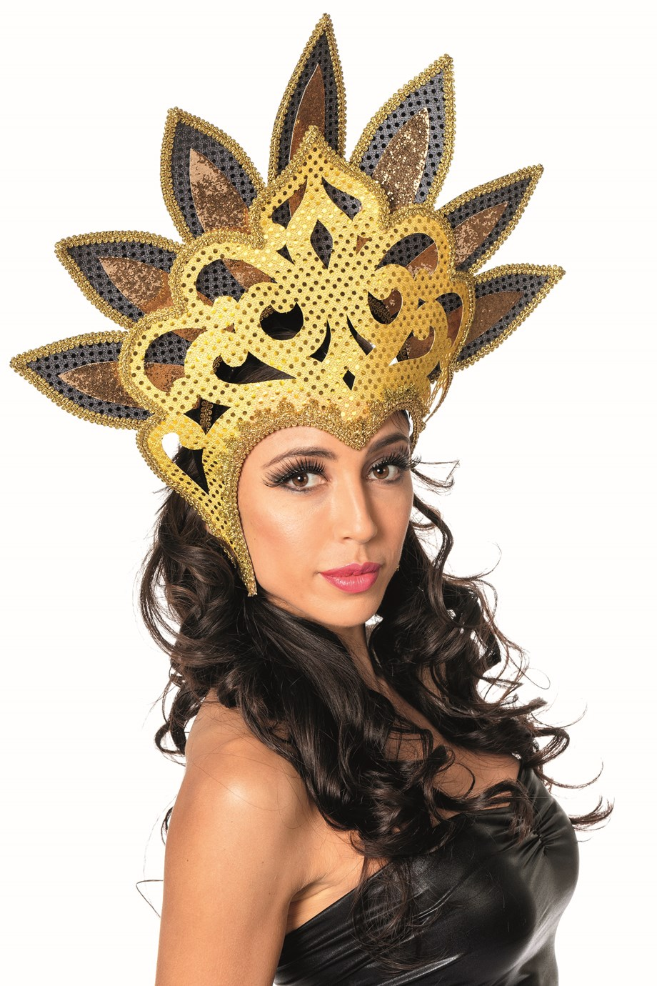 Samba tooi pailletten waaier goud