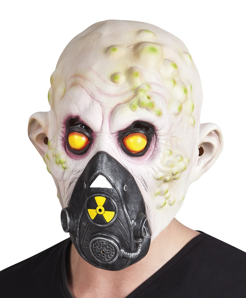 Latex masker Nucleair slachtoffer