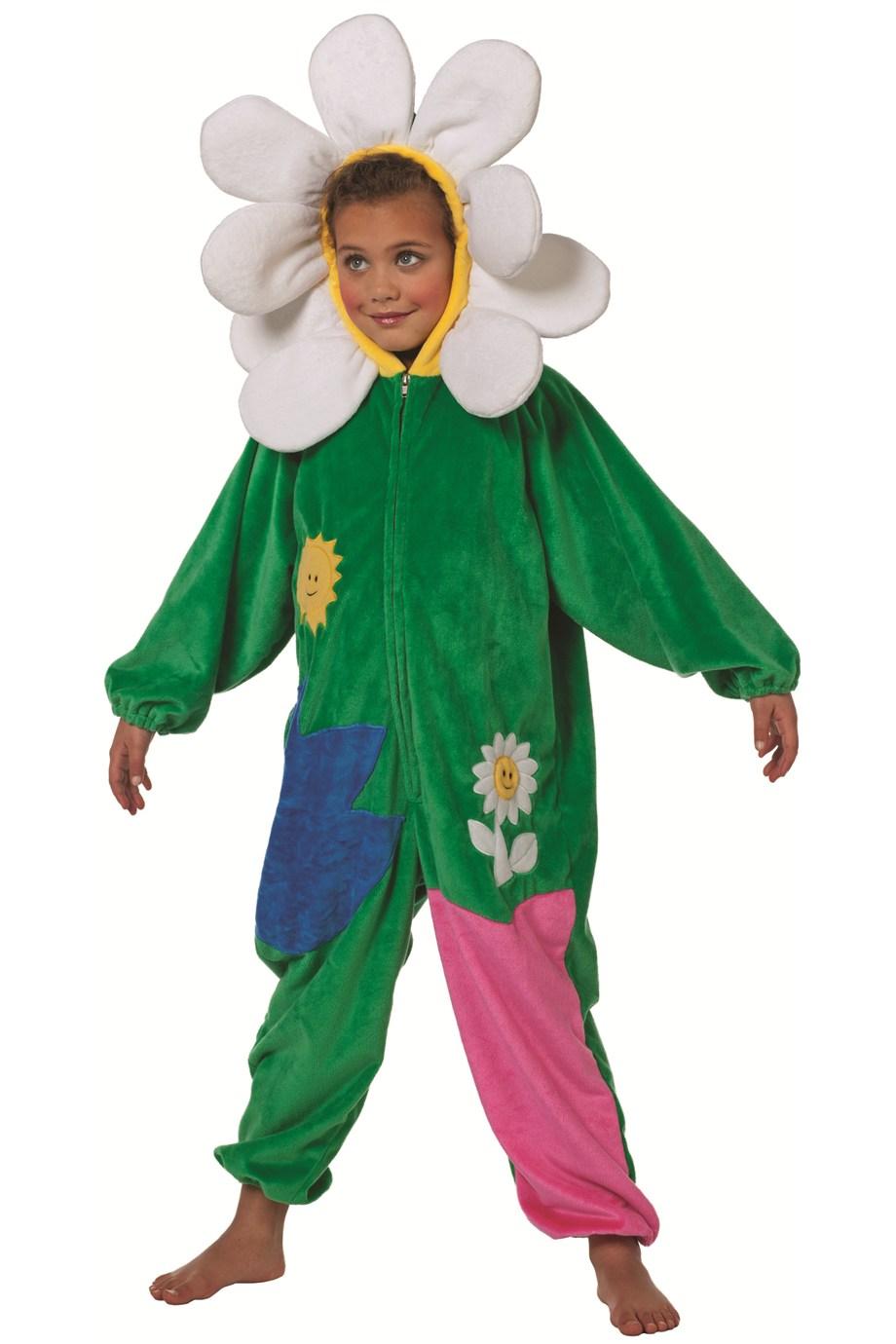 Overall bloemetje voor kind