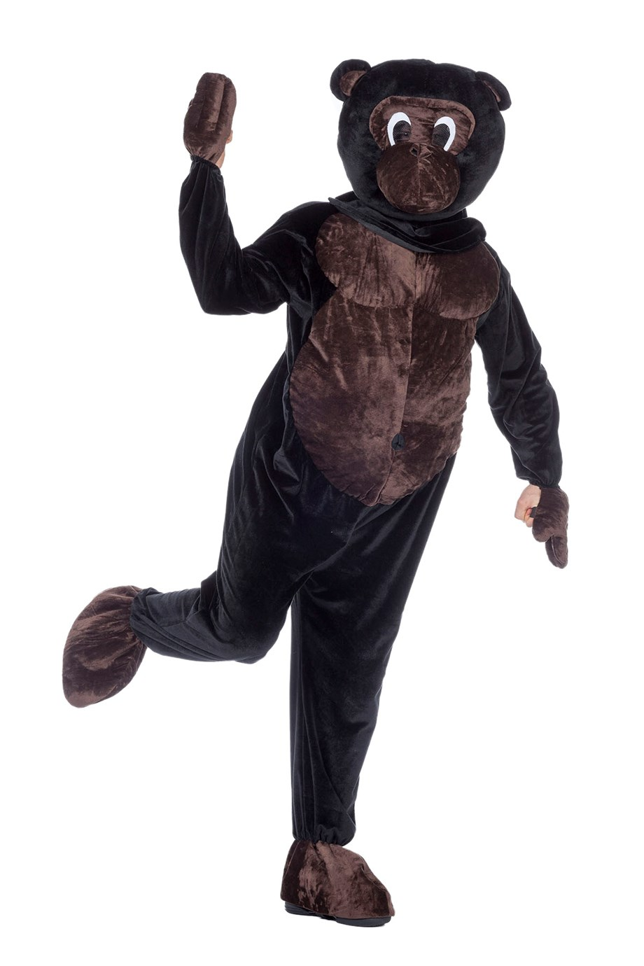 Mascotte aap voor volwassenen