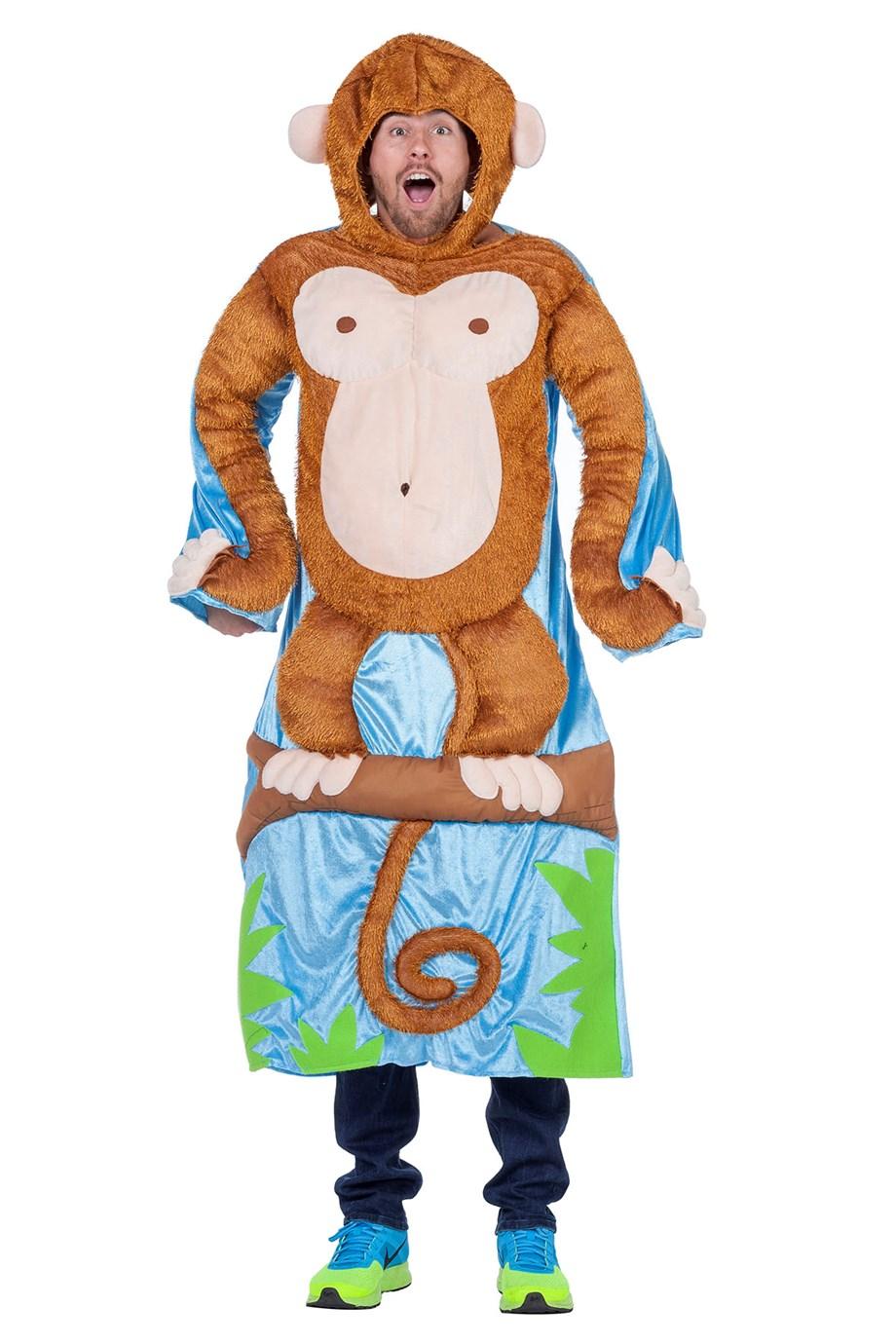 Aap in boom kostuum voor volwassenen