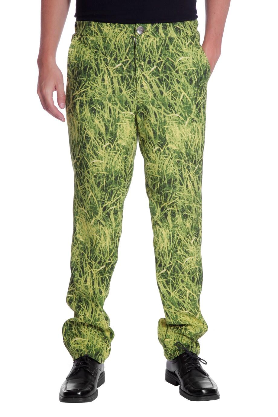 Broek multi print gras voor heer
