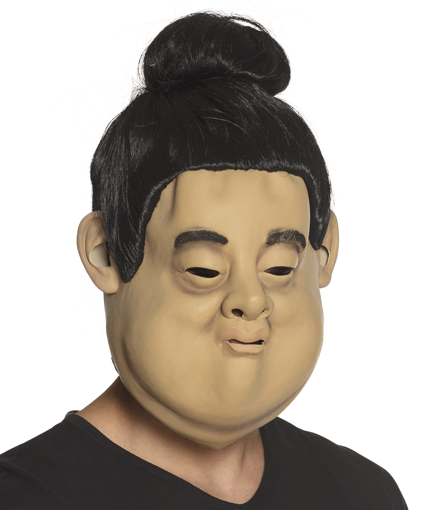 Latex hoofdmasker Sumo met haar