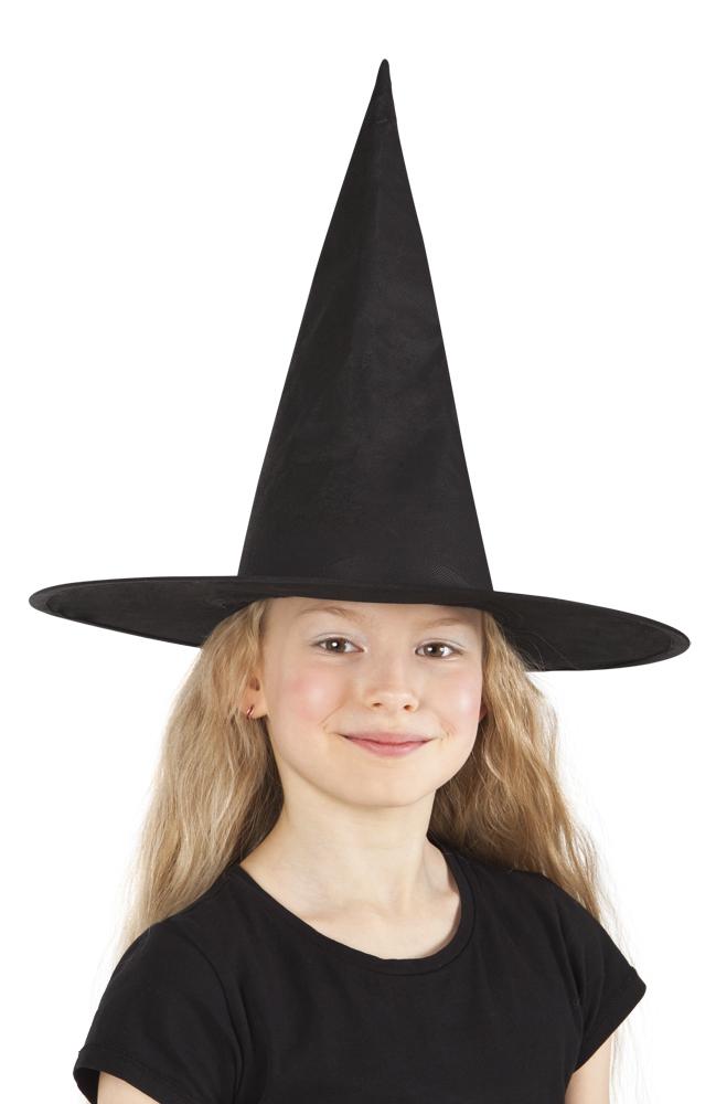 Heksen hoed Ursula zwart kids