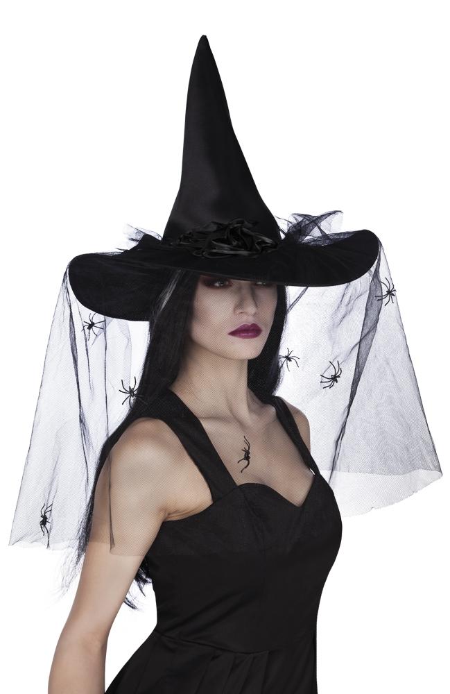 Heksen hoed Esmeralda Zwart