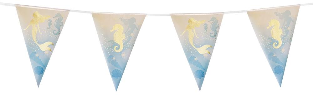 Folievlaggenlijn Zeemeermin (4 m)