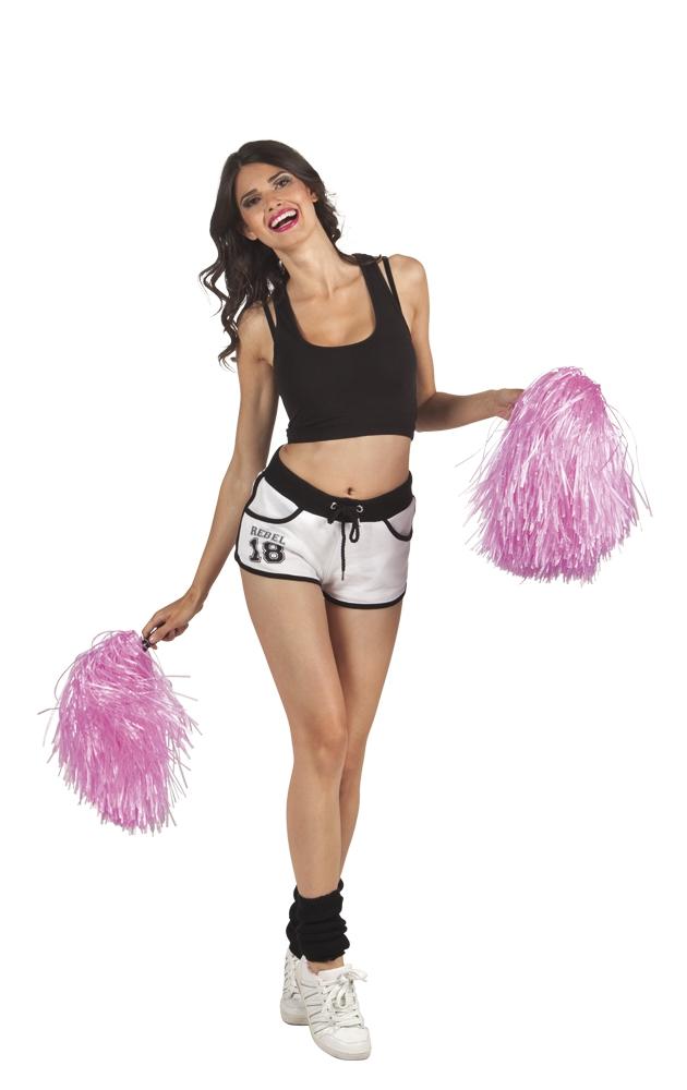 Cheerball met steel roze per stuk