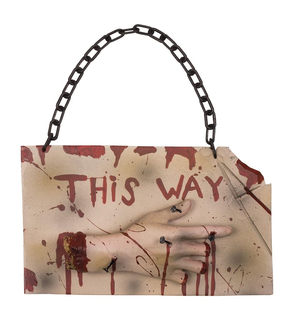 Horror wegwijzer This way (19 x 31 cm)