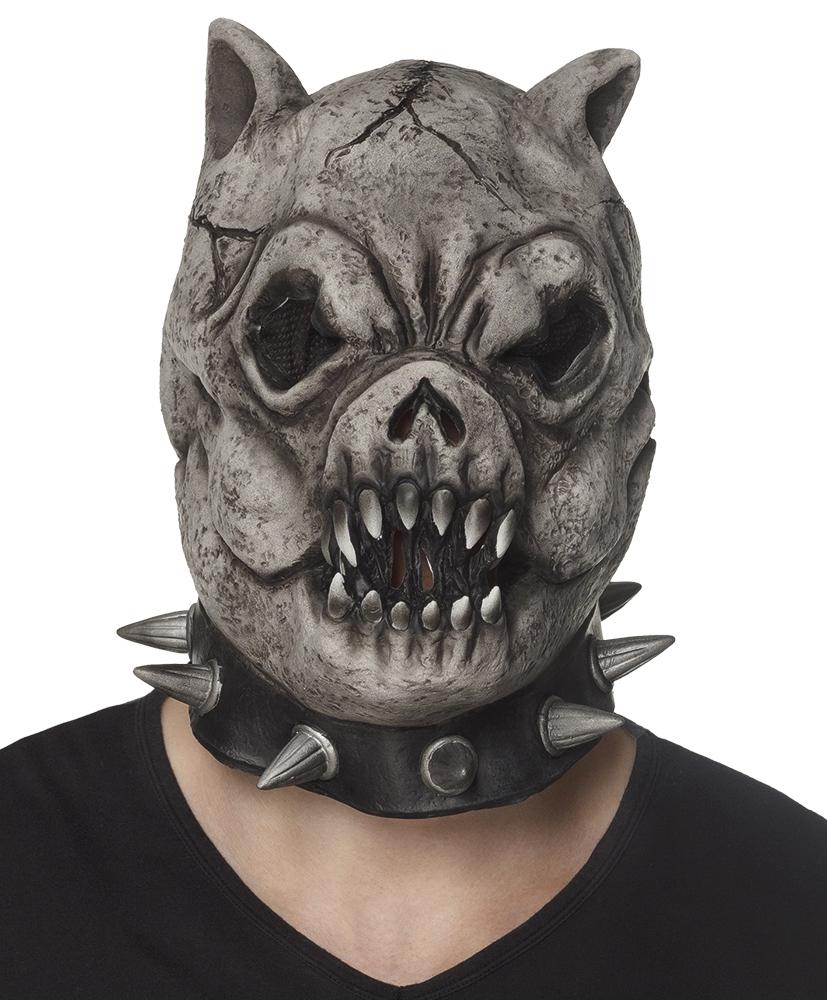 Latex hoofdmasker Evil bulldog