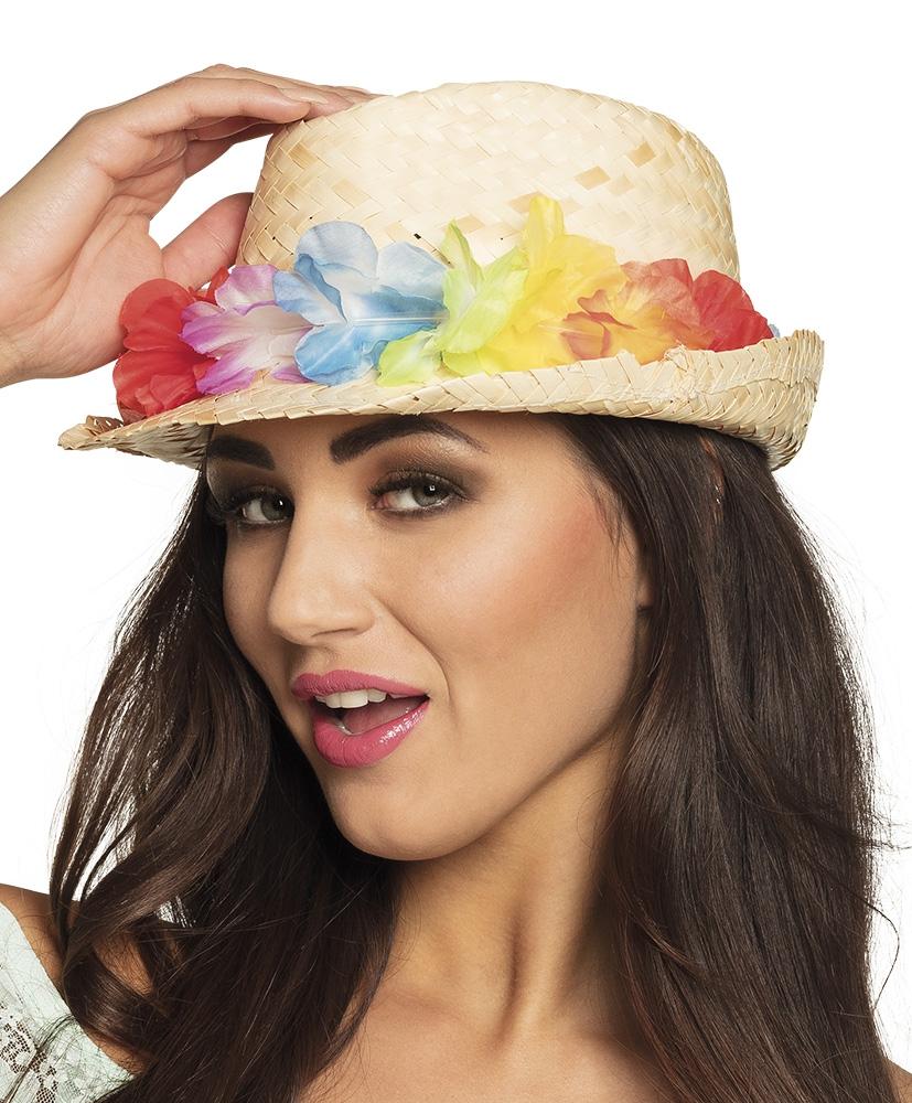 Stro hoed Aruba met krans