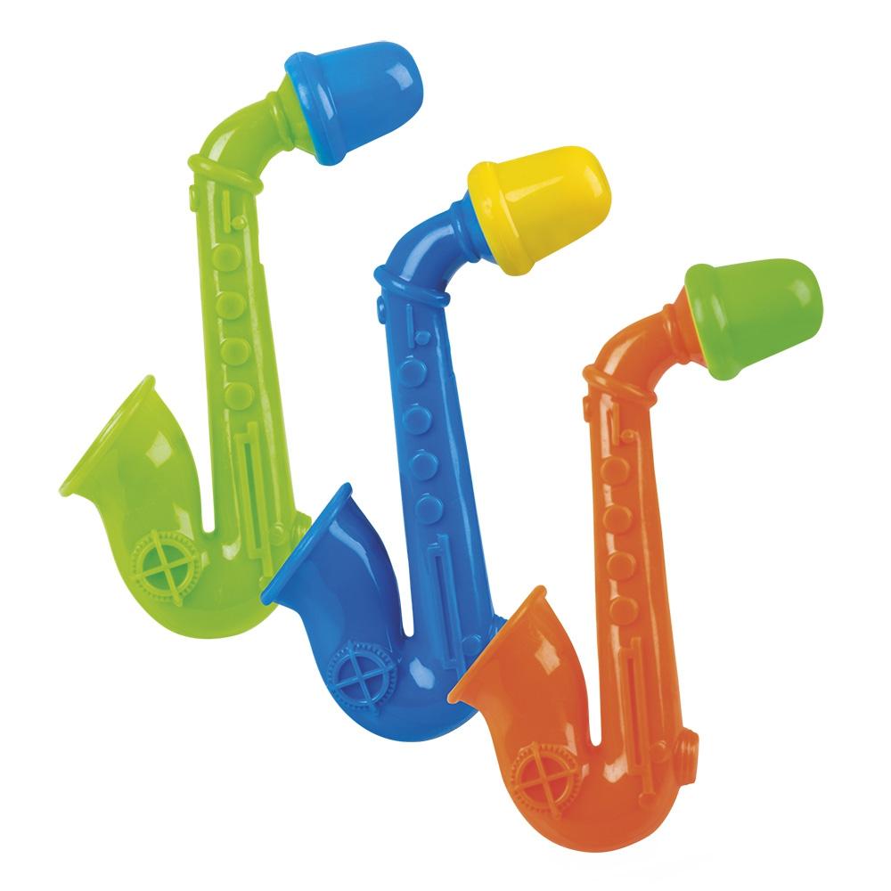 Set 3 Saxofoon fluitjes 3 kleuren ass.