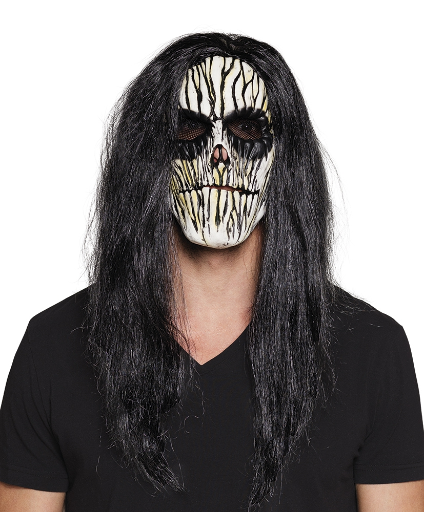 Latex masker Voodoo met haar