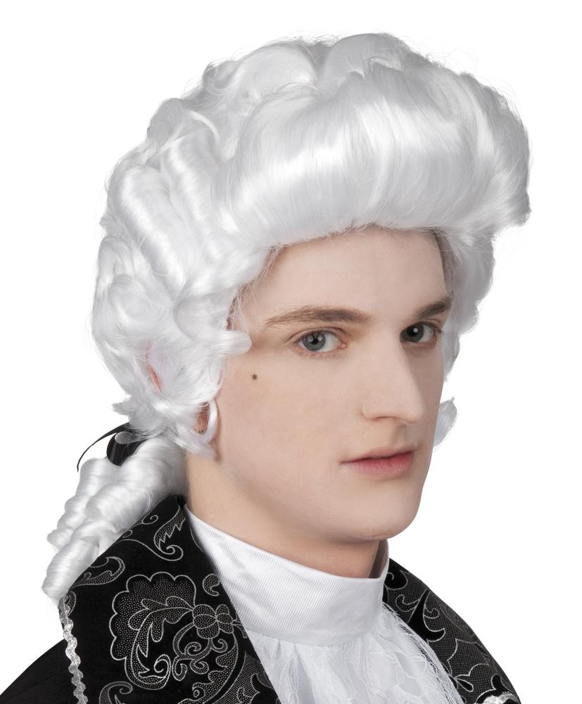 Pruik Baroque man wit