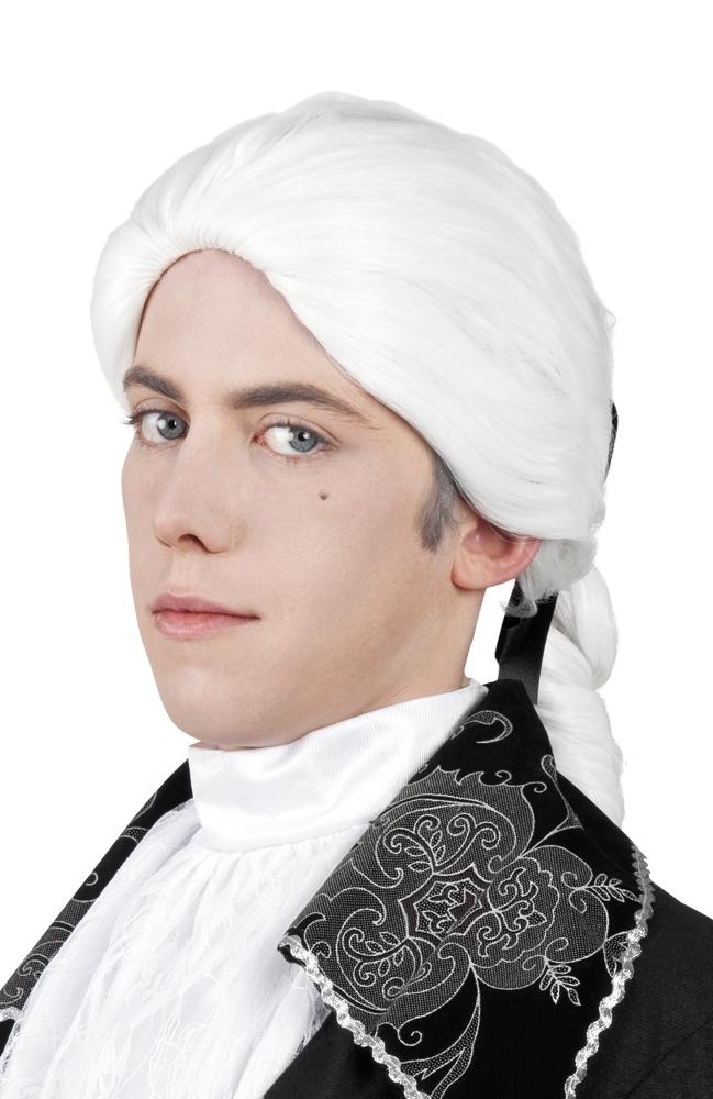 Pruik Rococo man wit