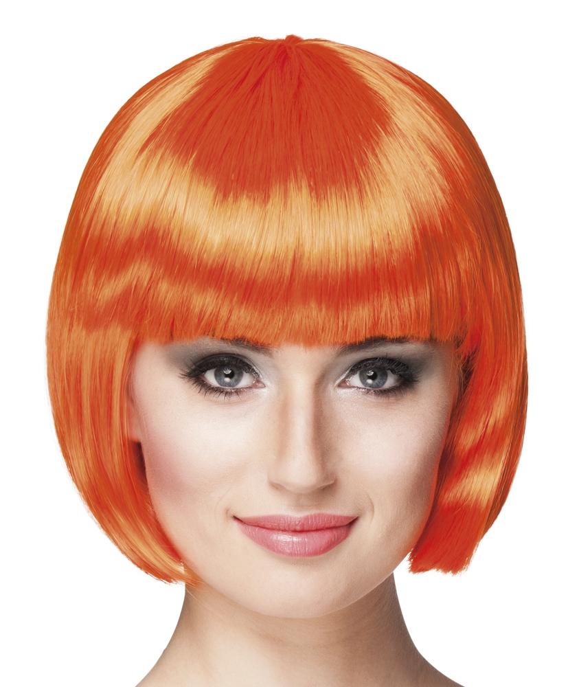 Pruik Cabaret bobline oranje