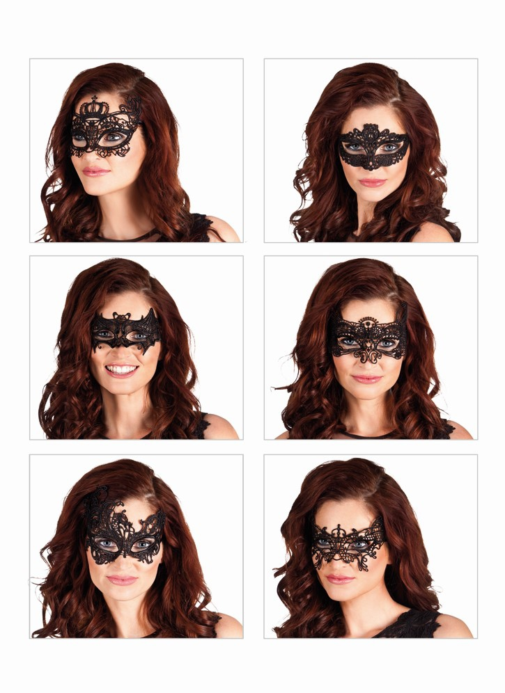 Kanten oogmasker zwart Masquerade per stuk